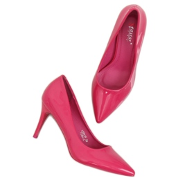 Szpilki damskie fuksjowe LE011P Fushia różowe 1