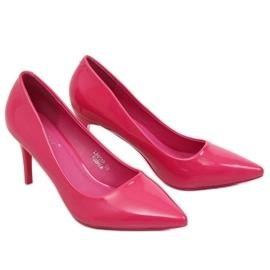 Szpilki damskie fuksjowe LE011P Fushia różowe 2