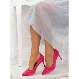 Szpilki damskie fuksjowe LE011P Fushia różowe 4