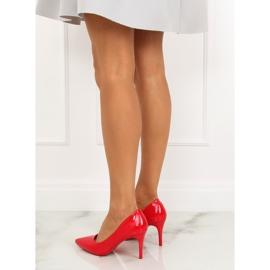 Szpilki damskie czerwone LE011P Red 6