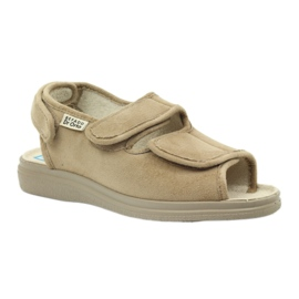 Befado obuwie damskie pu 676D004 brązowe 3