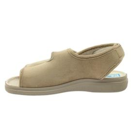 Befado obuwie damskie pu 676D004 brązowe 4