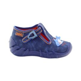 Befado obuwie dziecięce 110P297 niebieskie 2