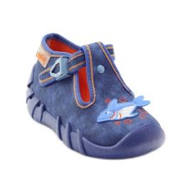 Befado obuwie dziecięce 110P297 niebieskie 3
