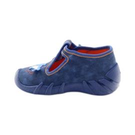 Befado obuwie dziecięce 110P297 niebieskie 4