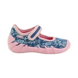 Befado różowe obuwie dziecięce 109P160 niebieskie 2