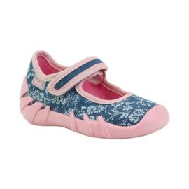 Befado różowe obuwie dziecięce 109P160 niebieskie 3