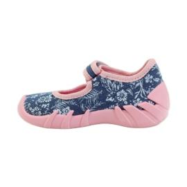 Befado różowe obuwie dziecięce 109P160 niebieskie 4