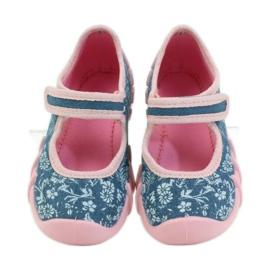 Befado różowe obuwie dziecięce 109P160 niebieskie 6