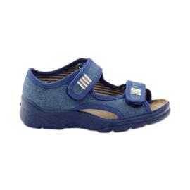 Befado obuwie dziecięce 113X010 niebieskie 1