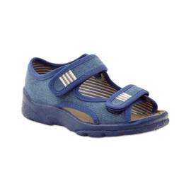 Befado obuwie dziecięce 113X010 niebieskie 2