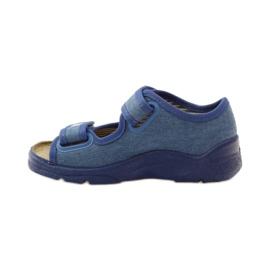 Befado obuwie dziecięce 113X010 niebieskie 3