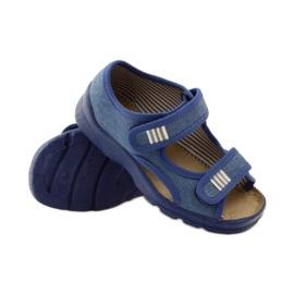 Befado obuwie dziecięce 113X010 niebieskie 4