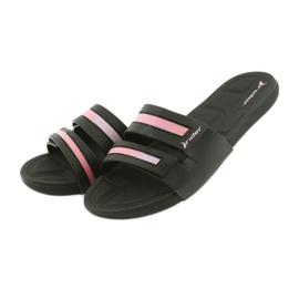 Klapki rekreacyjne buty damskie basenowe Rider 82503 czarne różowe 3