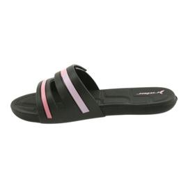 Klapki rekreacyjne buty damskie basenowe Rider 82503 czarne różowe 2
