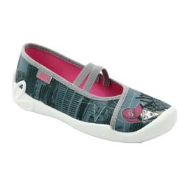 Befado obuwie dziecięce 116Y229 szare wielokolorowe 3