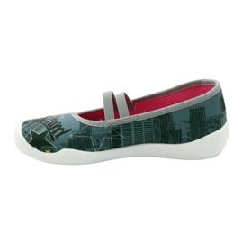 Befado obuwie dziecięce 116Y229 szare wielokolorowe 4