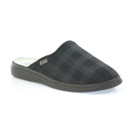 Befado obuwie męskie  pu 125M011 czarne szare 2