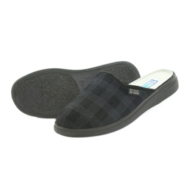 Befado obuwie męskie  pu 125M011 czarne szare 5