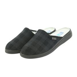 Befado obuwie męskie  pu 125M011 czarne szare 4