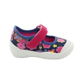 Befado obuwie dziecięce 209P026 granatowe różowe 2