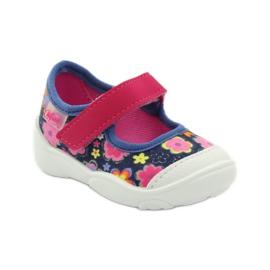 Befado obuwie dziecięce 209P026 granatowe różowe 3
