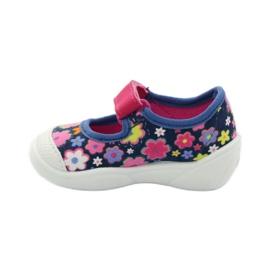 Befado obuwie dziecięce 209P026 granatowe różowe 4