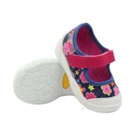 Befado obuwie dziecięce 209P026 granatowe różowe 5