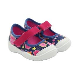 Befado obuwie dziecięce 209P026 granatowe różowe 6