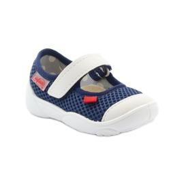 Befado obuwie dziecięce 209P024 granatowe białe 2