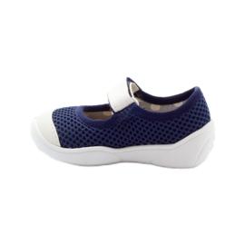 Befado obuwie dziecięce 209P024 granatowe białe 3
