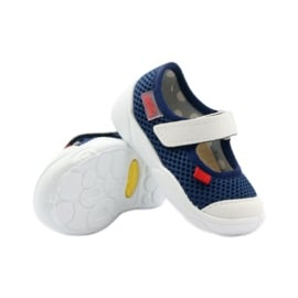 Befado obuwie dziecięce 209P024 granatowe białe 4