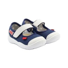 Befado obuwie dziecięce 209P024 granatowe białe 5