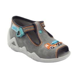 Befado obuwie dziecięce 217P089 szare 2