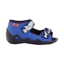 Befado obuwie dziecięce 250P069 niebieskie 1