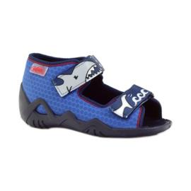 Befado obuwie dziecięce 250P069 niebieskie 2