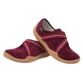 Befado obuwie damskie pu--young 434D016 czerwone 5