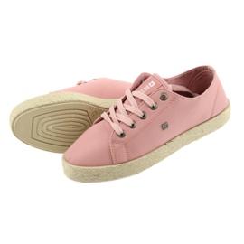 Balerinki espadryle buty damskie różowe Big star 274425 5