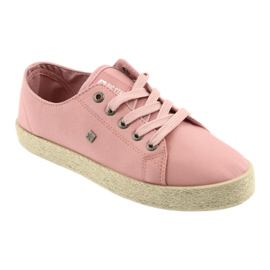 Balerinki espadryle buty damskie różowe Big star 274425 1