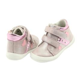 American Club ADI sportowe buty dziecięce w serduszka American szare różowe 4