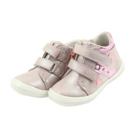 American Club ADI sportowe buty dziecięce w serduszka American szare różowe 3