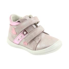 American Club ADI sportowe buty dziecięce w serduszka American szare różowe 1