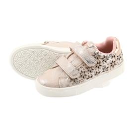 American Club ADI sportowe buty dziecięce w kwiaty American szare różowe 5