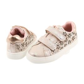 American Club ADI sportowe buty dziecięce w kwiaty American szare różowe 4
