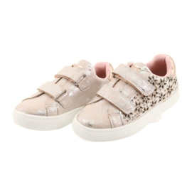 American Club ADI sportowe buty dziecięce w kwiaty American szare różowe 3