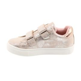 American Club ADI sportowe buty dziecięce w kwiaty American szare różowe 2