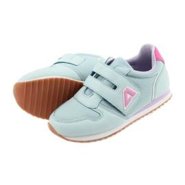 American Club Buty sportowe dziewczęce jogging American fioletowe niebieskie różowe 5