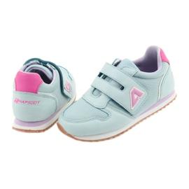 American Club Buty sportowe dziewczęce jogging American fioletowe niebieskie różowe 4