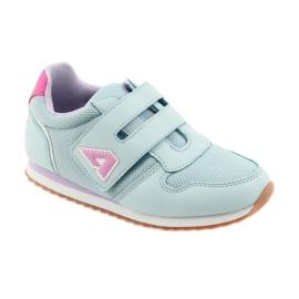 American Club Buty sportowe dziewczęce jogging American fioletowe niebieskie różowe 1
