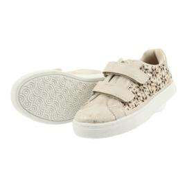 Buty sportowe buty dziecięce kwiaty American Club złoty 5